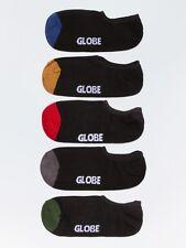 Globe Mens Socks 5 Pairs DIP Invisible