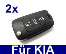 2x Ersatz Klappschlüssel Gehäuse für Kia Amanti CEE Picanto Sorento Sportage
