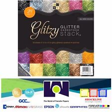 "DCWV®️ GITZY GLITTER CARDSTOCK STACK 12""X12"" 24/PKG PS-005-00260"