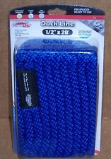 "Blue Dock Line 1/2"" x  20'  MFP Floating Rope Boat 12"" Loop Docking Boating New"