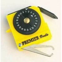 Crown Green Bowls Henselite Premier Bowlers Tape Measure Yellow Scorer
