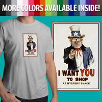 Gravity Falls Grunkle Stan Uncle Sam Mystery Shack Unisex Mens Tee Crew T-Shirt
