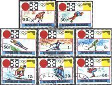 Ruanda 479A-486A (kompl.Ausg.) gestempelt 1972 Olymp. Winterspiele ´72, Sapporo