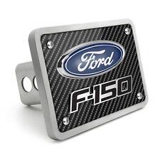 Ford F-150 3D Logo Carbon Fiber Texture Billet Aluminum 2 inch Tow Hitch Cover