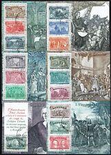 Francobolli Repubblica 1992 Foglietti Colombo 6 Valori con varietà COLOMBG Usati