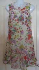 GEORGE G21 GLAM FLORAL PETER PAN COLLAR DRESS SIZE 8 BNWTS MUST L@@K!!