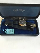 Adj Swiss Wadsworth Pilot Quality Watch Vintage Solrex Watch Co 15 Jewels 3
