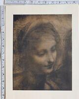 1910 Antico Originale Stampa Leonardo da Vinci Schizzi