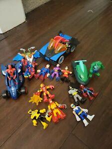 Imaginext Superhero Lot. Marvel, DC Comics, Batman, Superman, Spiderman, Ironman
