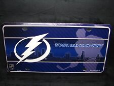 TAMPA BAY LIGHTNING METAL NOVELTY LICENSE PLATE FOR CARS  BOLTS...
