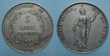 GOVERNO PROVVISORIO DI LOMBARDIA 5 LIRE 1848 MILANO BB