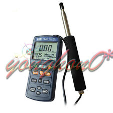 TES-1341 Hot Wire Thermo Anemometer HVAC Air Flow Velocity USB + CD Software