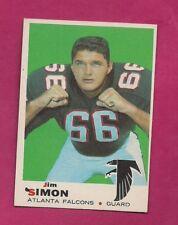 1969 TOPPS # 184 FALCONS JIM SIMON  ROOKIE NRMT  CARD (INV# A7616)