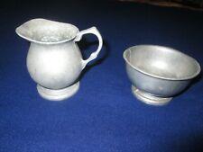 2 Pieces Creamer & sugar bowl - Pewter