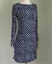 NWT TAHARI Navy Blue & White Printed Jersey Tie Sleeve Dress 4 ( S ) $138.00