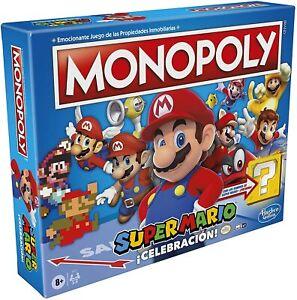 Hasbro. Juego de mesa Monopoly Super Mario ¡Celebración! De 2 a 6 jugadores