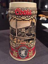 Coors Original Draft 1988 beer Stein mug Cup Glass