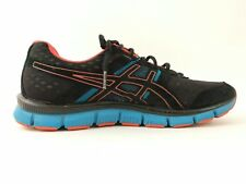 Asics Gel Blur 33 Mens Size 7.5 Black Blue Red Running Shoes Sneakers T1H3N