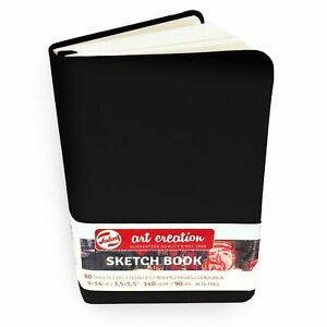 Royal Talens Art Creation Hardback Sketchbook 80 Sheets 140gsm Page Black Cover