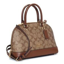 Coach Mini Sierra Khaki Saddle Signature Satchel Leather Purse F27583 IME74 NEW