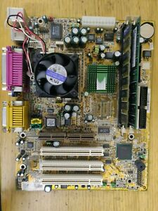 MSI MS-6178 Socket 370, Celeron 500 with cooler, 384mb Ram, Onboard gfx and snd