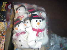 (1)DOZEN(MINUS 1) TY SNOWBALL the SNOWMAN*REGULAR BEANIE*DOB DEC 22,1996(11ct)