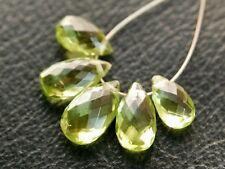 AAA Natural Arizona Peridot Faceted Pear Briolette Semi Precious Gemstone Beads