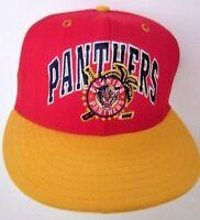 Vtg Rare 1990 s Florida Panthers Sz 7 fitted DoubleLogo Hockey PRO hat cap NHL
