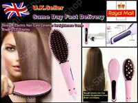 Christmas gift Straight Electric Hair Care Ceramic Straighteners Comb Brush LCD