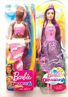 Lot Of 2 Barbie Endless Hair Kingdom Princess Doll And Pink Mermaid.