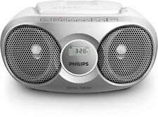 STEREO PORTATILE PHILIPS LETTORE CD BOOMBOX SILVER ENTRATA AUDIO FM 3 WATT