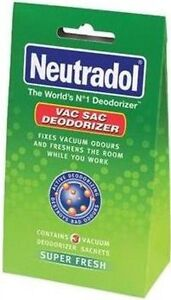 PACK OF 3 SACHET NEUTRADOL FRESHNER VACCUM CLEAN FRAGRANCE DETROYS ODOURS CLEAN