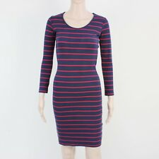 Jack Wills Womens Size 8 Blue Pink Knit Pullover Jumper Dress