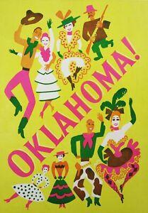 Vintage Rogers & Hammerstein OKLAHOMA! Program Theatre Guild National Co 1940's