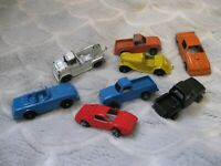 lot of 8 vintage metal diecast toy cars tootsie toy