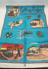 New Vintage Lightning Ridge Australia Black Opal Pure Linen Kitchen Tea Towel
