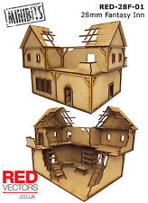 RED-28F-01 - 28mm Wargames - Fantasy Inn (for Mordheim / Frostgrave)