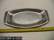 """New listing 12 Inch Stainless Steel Decorative Handle Serving Tray 6-3/8"""" Wide"""