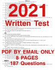 2021 California DMV Class C Written Test Q&A Answers Permit Study Guide license