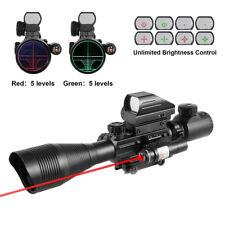 4-12X50EG R&G Illuminated Rifle Scope & Holographic 4 Reticle Sight & Red Laser