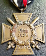 ✚6847✚ German Hindenburg Honour Cross With Swords for combatants medal WW1 W
