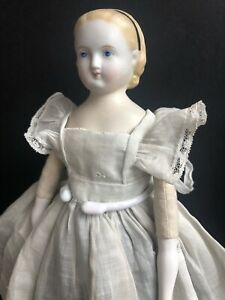 Antique German ABG (?) Alice Hairdo Parian China Head Doll Restored