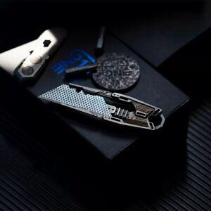 UK-11 Titanium Utility Knife Razor trapezoidal Blade paper Cutter EDC Scalpel
