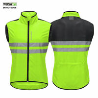 Cycling Vest High Visibility WIndproof Gilet Bike Reflective Jersey Motorcycle
