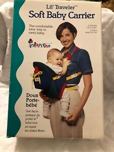 infantino lil traveler soft baby carrier 0-9 Months 21lbs Vintage New Old Stock