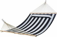 AmazonBasics Pillow Top Hammock, Blue and White