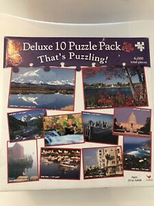 10 Pack Nature Jigsaw Puzzles!! With Color Coded Back!