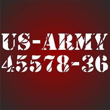 US Army Nummer US Army Sterne Auto Aufkleber Sterne Türen Hauben USA Army Jeep F