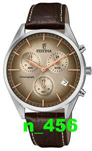 Festina Sport Trend Klassik Datum Chronograph Lederband 3 ATM F 6860/2 F6860/2