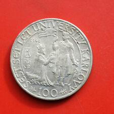 Tschechien-Czeskoslovenska: 100 Korun 1948 Silber, KM# 26, Unc-VZ+-XF+,#F 0289